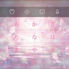 ピンク/オシャレ/URLにGO/秋仕様/テンションアップ/仕事道具/... こーんにちは。  キーボード背景を一新し…