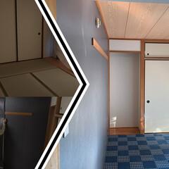 リフォーム/壁紙/ゴザ/カラーゴザ/畳/琉球畳/... 【賃貸和室のDIY】カラーゴザ&貼っては…