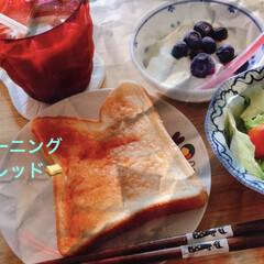 パン/朝食 朝食🥪🥣🥗 食欲ないけど食べないと仕事で…(1枚目)