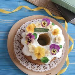 home made/お菓子作り/シフォンケーキ/スイーツ作り/手作りケーキ/おうち時間/... おうち時間。仕事お休みなのでケーキ作り🎶…