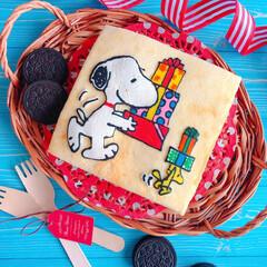 キャラケーキ/キャラクターフード/SNOOPY/お菓子作り/ケーキ/手作りケーキ/... こんばんは☆。.:*・゜ 大好きなSNO…