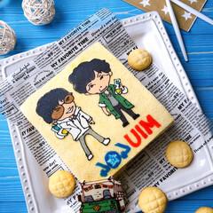 お菓子作り/ケーキ作り/手作りおやつ/LIMIAスイーツ愛好会/キャラクターケーキ/Homemade/... 今一番ハマってる番組の、MIU404❤️…