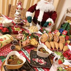 パーティー料理/手作りケーキ/クリスマス/クリスマスパーティー/クリスマス2019/キッチン クリスマス2019パーティ🎈👯👯🎈  M…