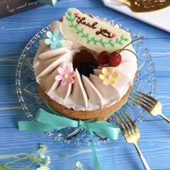 sweets/手作りスイーツ/スイーツ作り/LIMIAスイーツ愛好会/ケーキ作り/シフォンケーキ/... 父の日にありがとうの気持ちを込めて バナ…