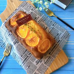 おうちおやつ/おうちカフェ/LIMIAスイーツ愛好会/Homemade/スイーツ作り/スイーツ/... 初めてオレンジケーキ作ってみました✨ オ…