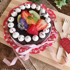 チョコレート/チョコレートケーキ/手作りケーキ/おうちカフェ/ケーキ作り/ケーキ/... ガトーショコラ作りました💝 久しぶりに作…