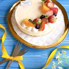 手作りお菓子/ケーキ作り/手作りおやつ/おうちカフェ/ムースケーキ/ホワイトチョコ/... こんにちは~!! 今日はとってもいい天気…