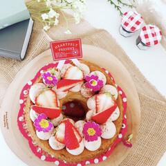 シフォンケーキ/お菓子作り/スイーツ/スイーツ作り/ケーキ/手作りケーキ/... またまたバナナシフォンケーキ😋  シフォ…