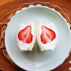 サンドイッチ/あまおう/紅ほっぺ/いちごサンド/フルーツサンド 苺サンド作りました(^-^)🍓(2枚目)