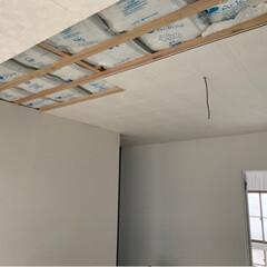 しずかW/天井リフォーム/DIY/リフォーム やっと時間が とれまして 天井の施工 ダ…