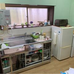 クッションフロアにもメリハリ/一瞬でキッチンが物だらけ/上がり框/DIY 母宅のリノベ💧いよいよ仕上げ段階 怒涛の…