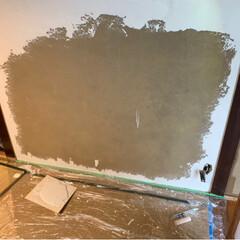 珪藻土を塗る/古民家再生/リフォーム 還暦を過ぎた母親が 別荘の近くの家を借り…