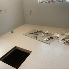 お掃除を楽に/防火&防水/キッチンパネル/キッチン/リフォーム 一応 防火の壁紙なので🙄 このまま完成の…