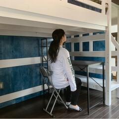 古民家再生/娘とリノベ/珪藻土を塗る/休校困る/初めてのコテ/収納 共有スペースにCARPのタオル地マット …