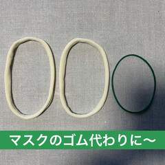 簡単/手作りマスク/ストッキング/マスク不足/COVID19/MASK/... 手作りマスクのゴムにストッキングを輪切り…