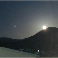 浄化日/スノームーン/満月 今日は満月🌕「スノームーン亅お家の窓から…(1枚目)