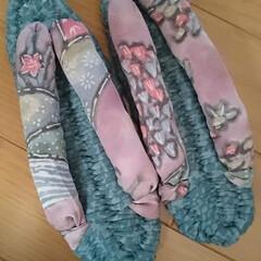 ハンドメイド/ズバゲッティ/布草履/ミニバッグ/かぎ針編み/編み物/... ズパゲッティで布草履とミニバッグ作成。 …