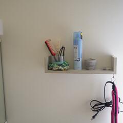 ニトリ 洗面台で横に、ちょっとした棚を取り付け。…