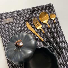 丁寧な暮らし/インテリア好きな人と繋がりたい/食器好き/食器/ブラックインテリア/モノトーンインテリア/... georg jensen damaskの…