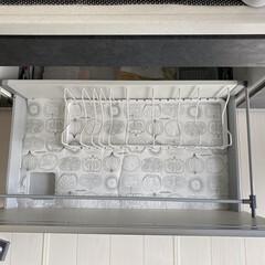 アイリスオーヤマ フライパン ホワイト/マーブル 12点 ダイヤモンドコートパン 12点セット IH対応 ISN-SE12 | アイリスオーヤマ(鍋、フライパンセット)を使ったクチコミ「フライパンなどを全て出して洗い、 棚の中…」(2枚目)