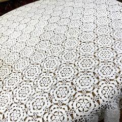 テープルクロス/模様替え/モチーフつなぎ/レース編み/かぎ編み/インテリア/... 以前ご紹介したダイニングテーブル用の レ…