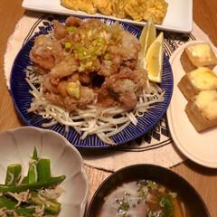 一汁三菜/和食/和食ご飯/100均食器ばかり/ご飯/晩ご飯/... 最近の晩ご飯です。基本的に一汁三菜。献立…