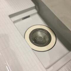 Andexi ユニットバス用 ゴミ受け ヘアキャッチャー 排水口 ゴミ受け 7.6-10cm お風呂 ステンレス バスルーム用 適用サイズ:直径76~100mm(排水口用品)を使ったクチコミ「お風呂の排水溝。  ゴミ受けにダイソーの…」