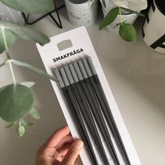 モノトーン雑貨/箸/IKEA購入品/IKEA/生活の知恵 IKEA スマークフローガ  シンプルな…(1枚目)