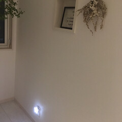 玄関インテリア/玄関/節電/星型ライト/ライト 玄関に、センサー式のライトを設置しました…