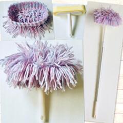#掃除グッズ/掃除グッズ 天井用ホコリ落としの2段階の伸縮タイプの…