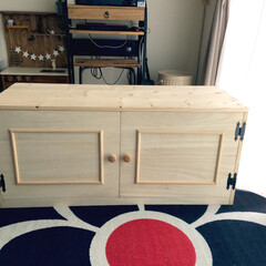開き扉/テレビ台 オーダー頂いてたテレビ台が完成しましたー…