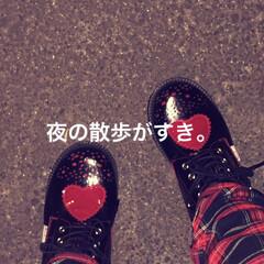 冬/散歩/厚底/靴/フォロー大歓迎 冬の夜に散歩するのがすきなんだけど、厚底…