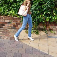 ファッション/GU/ブーツ/白シューズ/スクエアトゥ/プチプラ こちらの白ブーツはGUの「スクエアトゥヒ…
