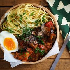 イタリアン/料理/トマトソース/トマトパスタ/パスタソース/パスタ/... たまにはパスタ弁当も🍝