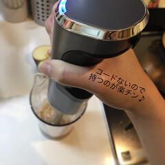 コードレス充電式ハンドブレンダー RHB-100J   クイジナート(その他調理用具)を使ったクチコミ「この度、 『クイジナート コードレス充電…」(3枚目)