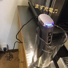 コードレス充電式ハンドブレンダー RHB-100J   クイジナート(その他調理用具)を使ったクチコミ「この度、 『クイジナート コードレス充電…」(2枚目)