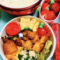トルネ キャラ弁グッズ ピック ハニー&フラワーピック 16本セット(キャラ弁グッズ)を使ったクチコミ「娘弁当。 食べ盛り、育ち盛りの中1女子の…」