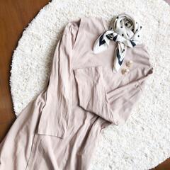 ワンピース/スカーフ/コーデ/コーディネート/おしゃれ/夏ファッション いつかのコーディネート🌿  少し肌寒かっ…