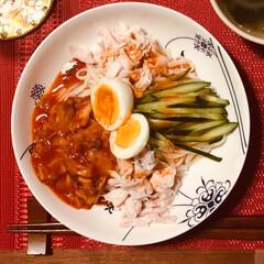 KINTO/スープマグ/ヘルシーレシピ/ヘルシー/ビビン麺/キムチ/...