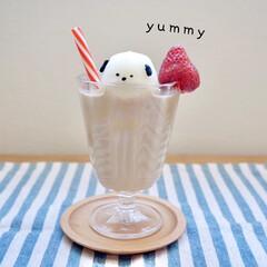 節約レシピ/時短レシピ/簡単レシピ/アイス/アイスクリーム/雪見だいふく/... 雪見だいふくとチョコペンで簡単アレンジカ…