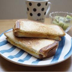 簡単レシピ/レシピブログ/サンドイッチ/クリームチーズ/コロッケパン/コロッケ/... フライパンで作るホットサンドのレシピをご…(5枚目)