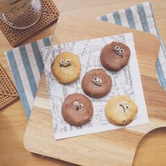 レシピブログ/レシピ/チョコペン/チョコレート/クッキー/ナチュラルキッチン/... チョコペンが余っていたのでクッキーにお絵…(1枚目)