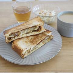 簡単レシピ/レシピブログ/サンドイッチ/クリームチーズ/コロッケパン/コロッケ/... フライパンで作るホットサンドのレシピをご…(3枚目)