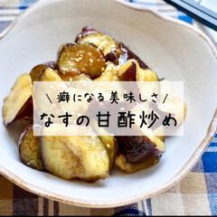 なすレシピ/甘酢/甘酢炒め/甘酢あん/なすび/茄子/... なすの甘酢炒め*  揚げ焼きにしたなすに…