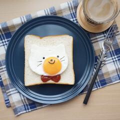 食パン/トースト/セリア/100均/ナチュラルキッチン/卵/... セリアのグッズを使ってアレンジ♡ 目玉焼…