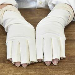 おやすみ手袋/ファッション雑貨/手洗い/ハンドケア/手荒れ/UV手袋/... 🔷教えて❗大豆繊維UV手袋🔷  🙋指切タ…(3枚目)