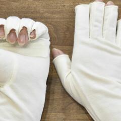 おやすみ手袋/ファッション雑貨/手洗い/ハンドケア/手荒れ/UV手袋/... 🔷教えて❗大豆繊維UV手袋🔷  🙋指切タ…(2枚目)