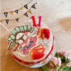 カフェ風 長男11歳の誕生日会🎂💕  今年のリ…(1枚目)