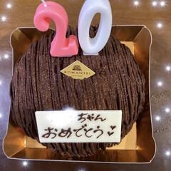 お酒/プレゼント/20歳/親子/ケーキ/バースデーパーティー/... 1日遅れちゃったけど長女20歳のパーティ…