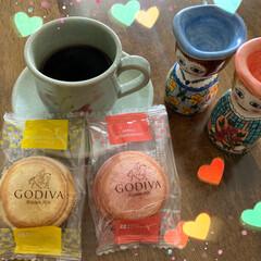 ハロウィン飾り/お家カフェ/柿/GODIVA 先日頂いたGODIVAのケーキ   その…